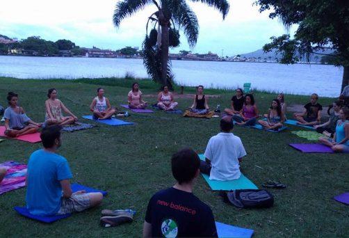 Aula de Yoga na Lagoa